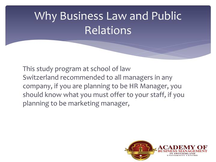 Why Business Law and Public Relations