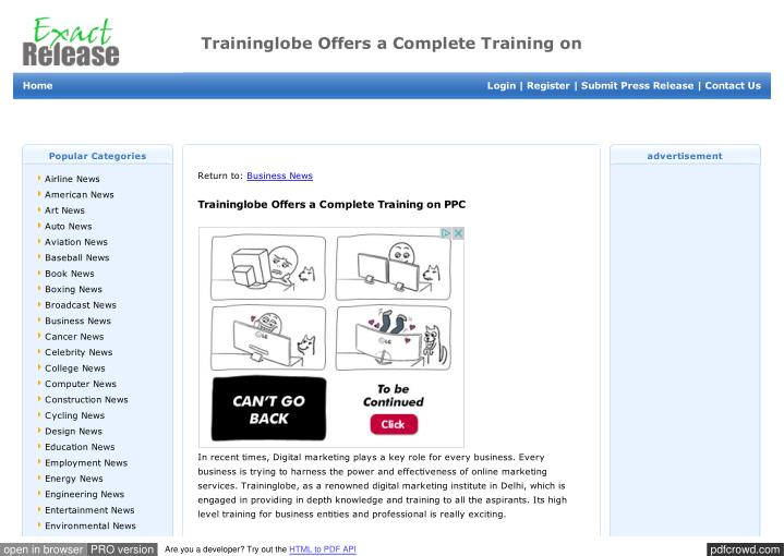 Traininglobe Offers a Complete Training on
