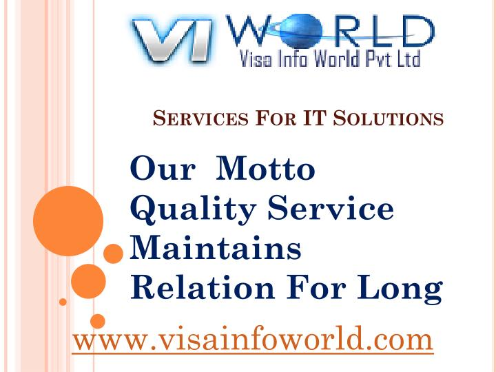 Services for it solutions