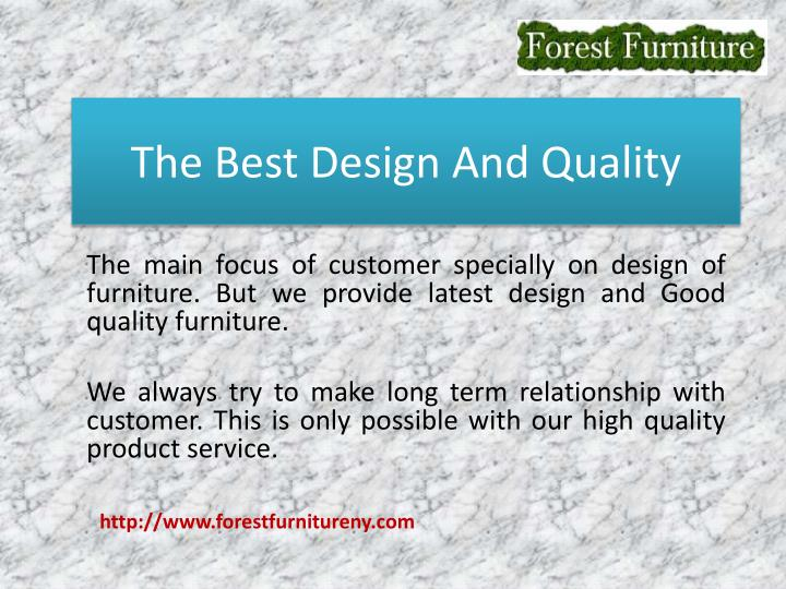 The Best Design And Quality