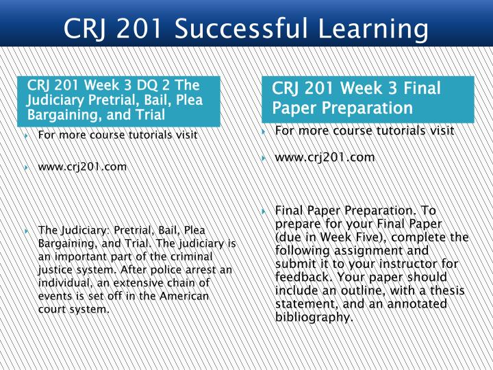 CRJ 201 Successful Learning