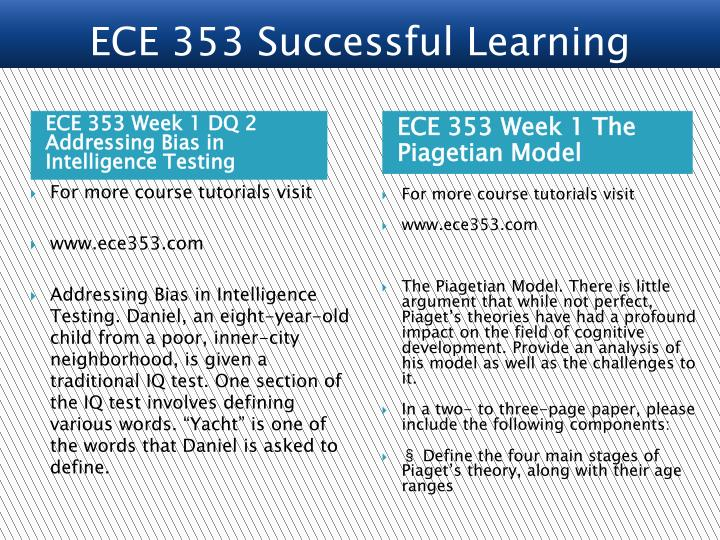 ECE 353 Week 1 DQ 2 Addressing Bias in Intelligence Testing