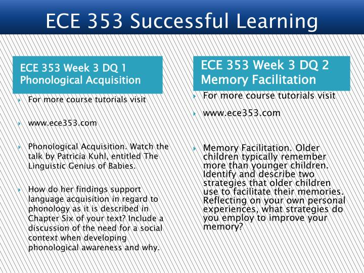 ECE 353 Week 3 DQ 1 Phonological Acquisition
