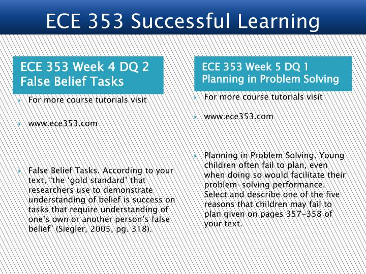 ECE 353 Successful Learning