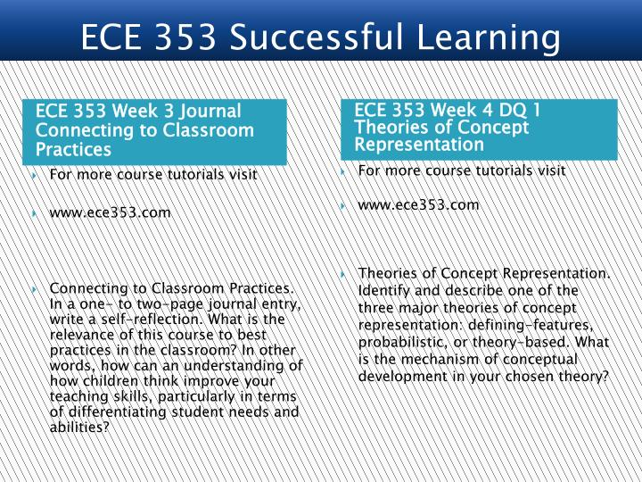 ECE 353 Successful Learning