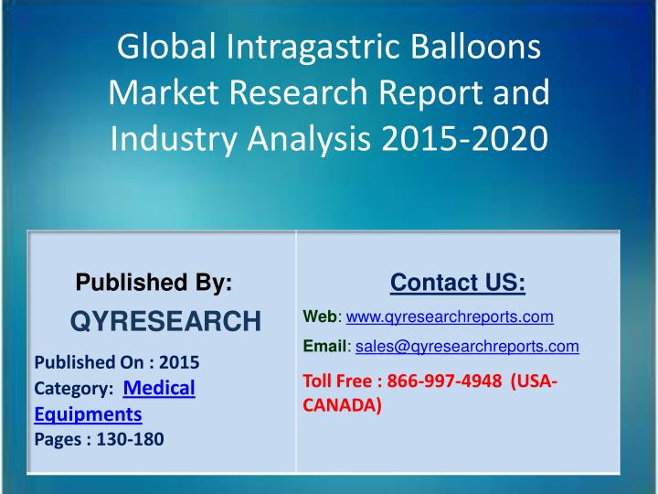 Global Intragastric Balloons