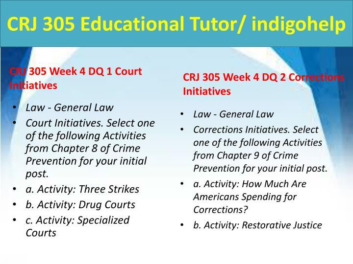 CRJ 305 Educational Tutor/ indigohelp