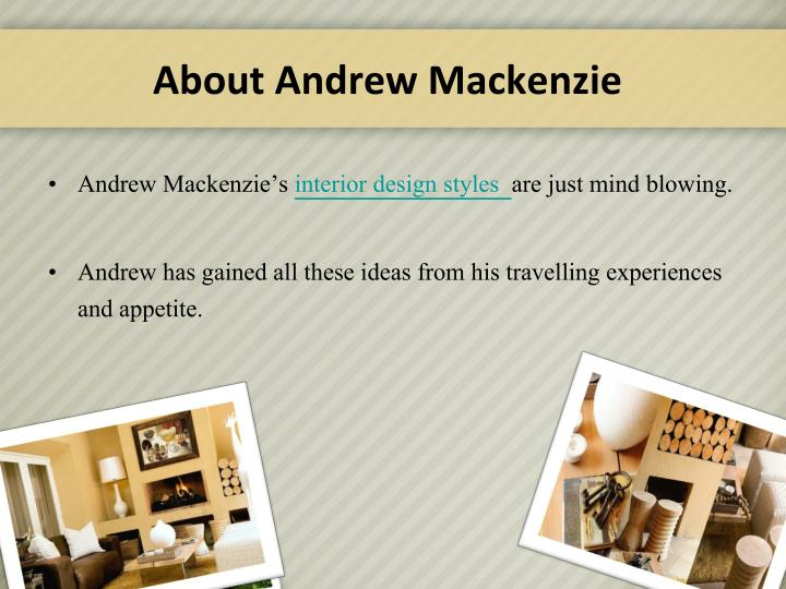 About andrew mackenzie