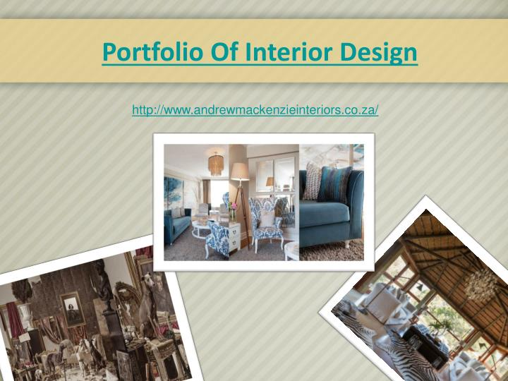 Portfolio Of Interior Design