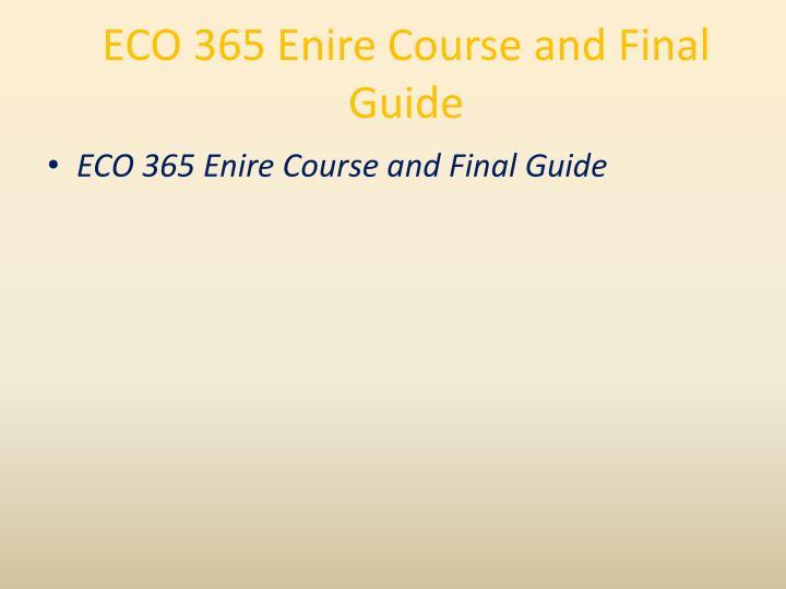 ECO 365