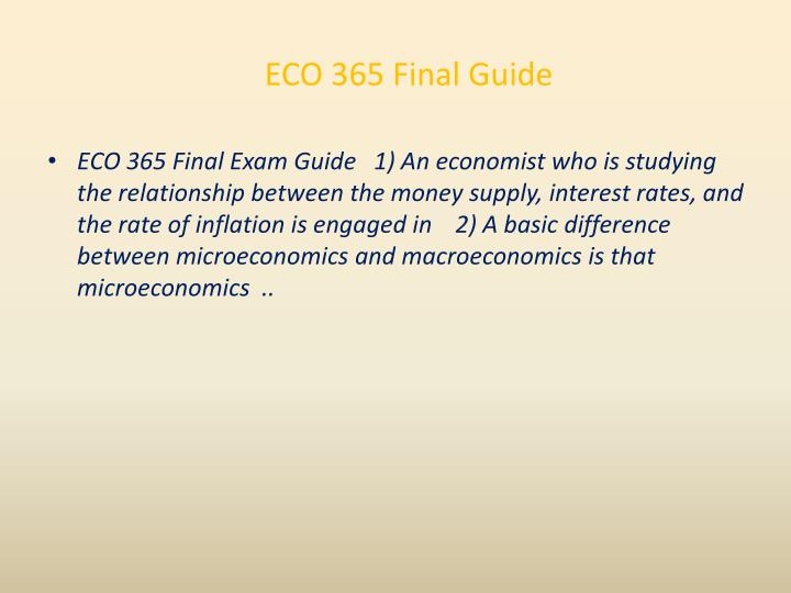 ECO 365 Final Guide