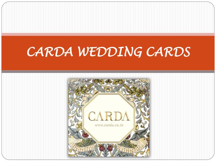 Carda wedding cards