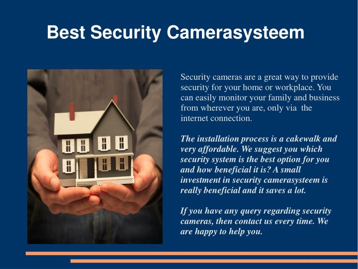 Best security camerasysteem