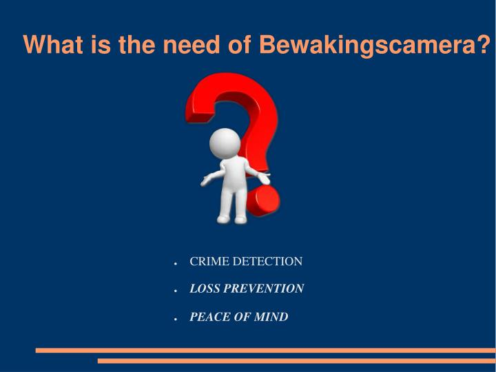 What is the need of bewakingscamera