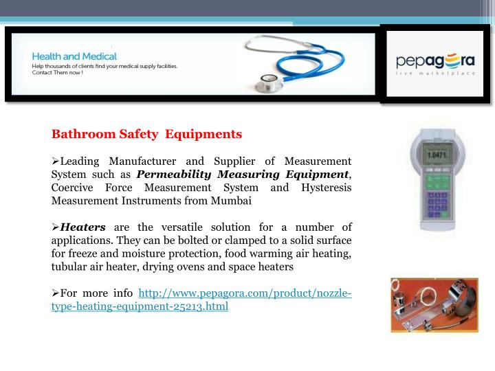 Bathroom Safety  Equipments