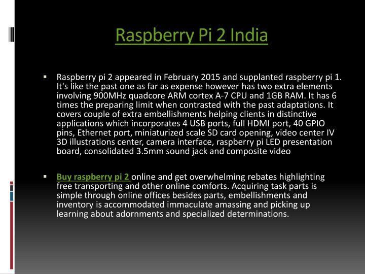 Raspberry Pi 2 India