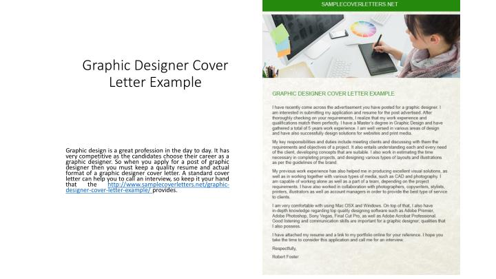 Graphic Designer Cover Letter Example PowerPoint