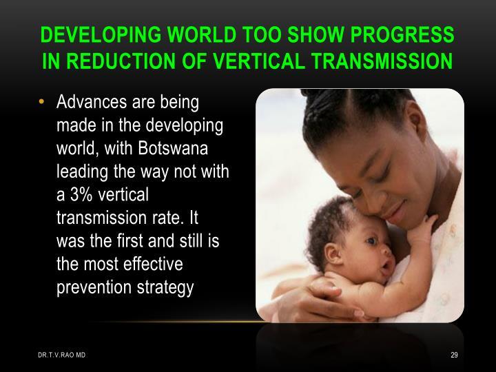 DEVELOPING WORLD TOO SHOW PROGRESS