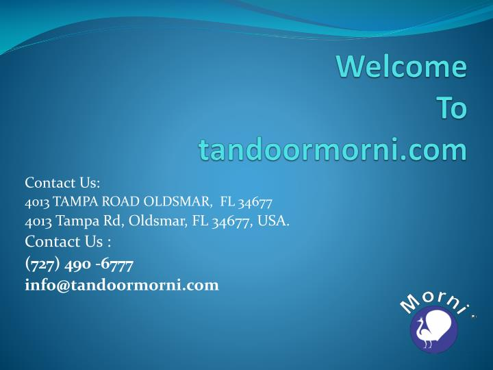 Welcome to tandoormorni com