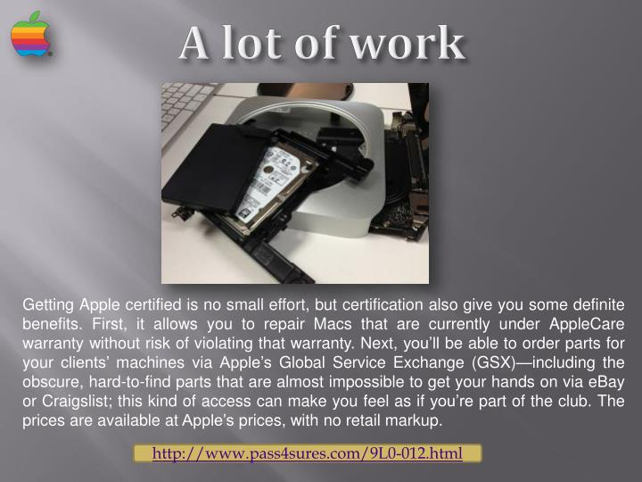 Getting Apple certified is no small effort, but certification also give you some definite