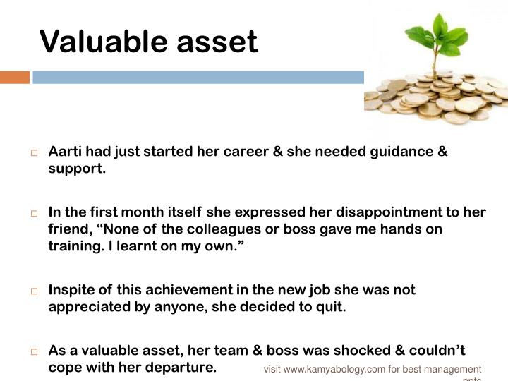 Valuable asset