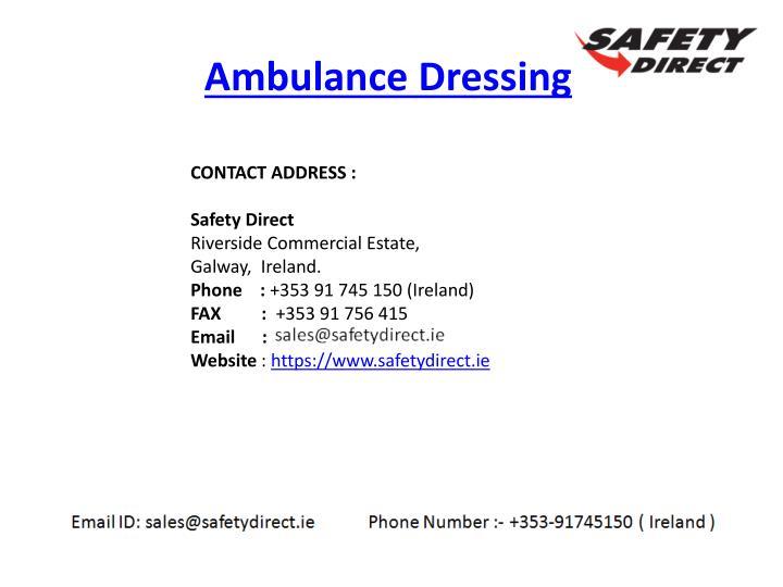 Ambulance Dressing