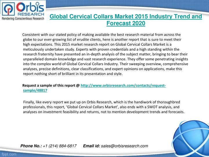 Global cervical collars market 2015 industry trend and forecast 20201
