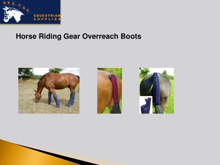Horse Riding Gear Overreach Boots