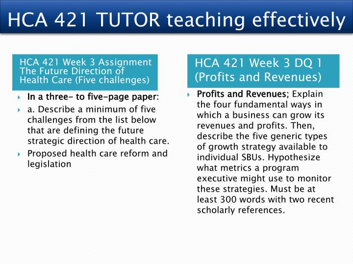 HCA 421 TUTOR teaching effectively