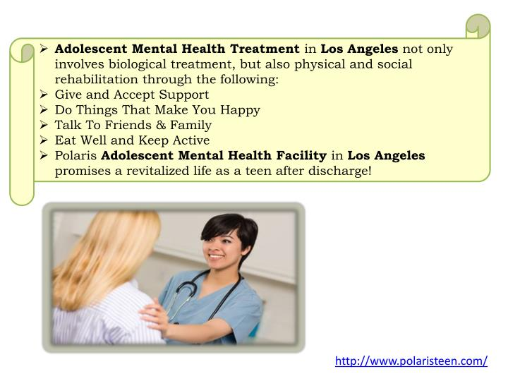 Adolescent Mental Health Treatment