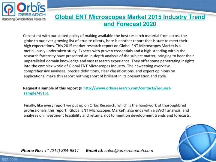 Global ent microscopes market 2015 industry trend and forecast 20201
