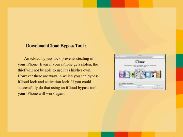 Download iCloud Bypass Tool :