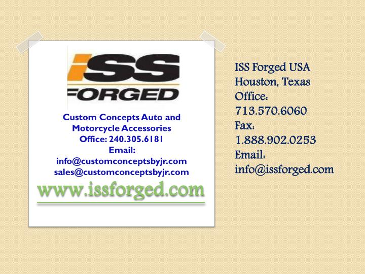 ISS Forged USA