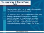 the importance of thermal paper rolls2