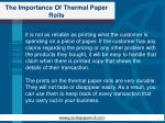 the importance of thermal paper rolls4