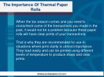 the importance of thermal paper rolls5