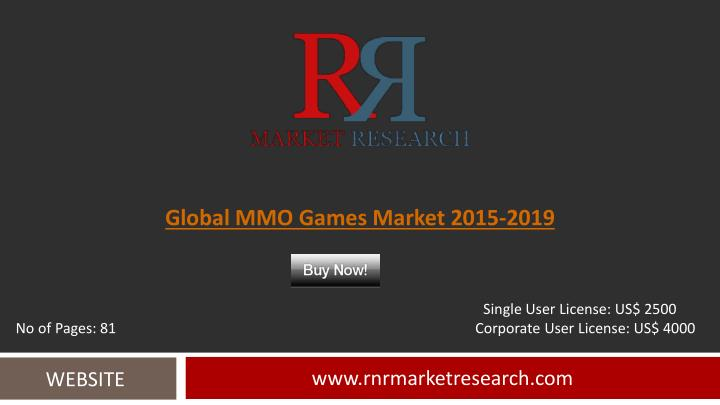 Global MMO Games Market 2015-2019