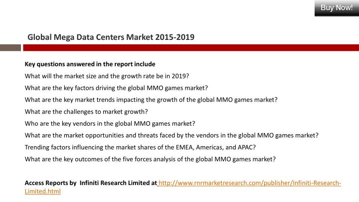 Global Mega Data Centers Market 2015-2019