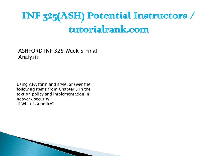 INF 325(ASH