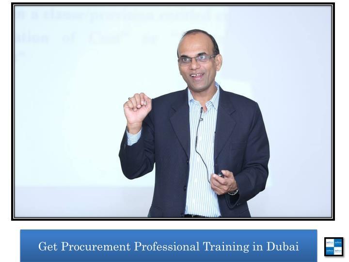 Get Procurement Professional Training in Dubai