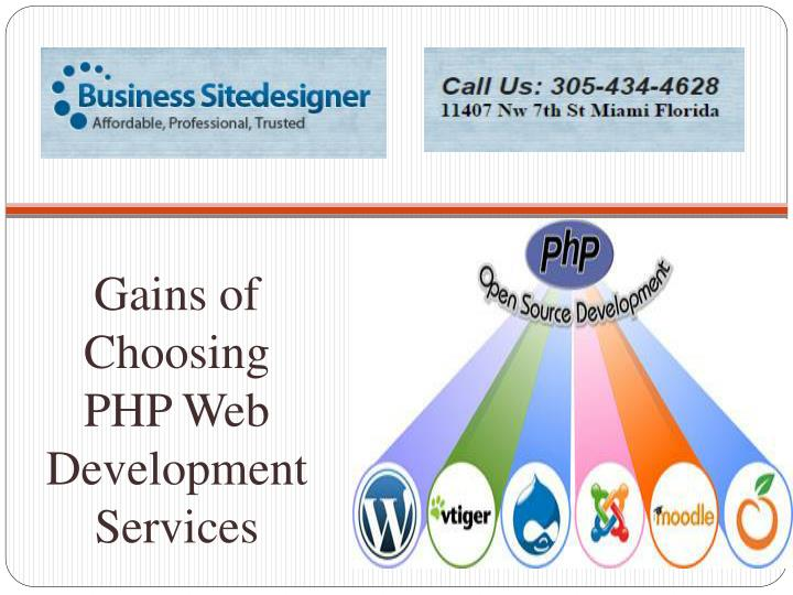 Gains of choosing php web development services