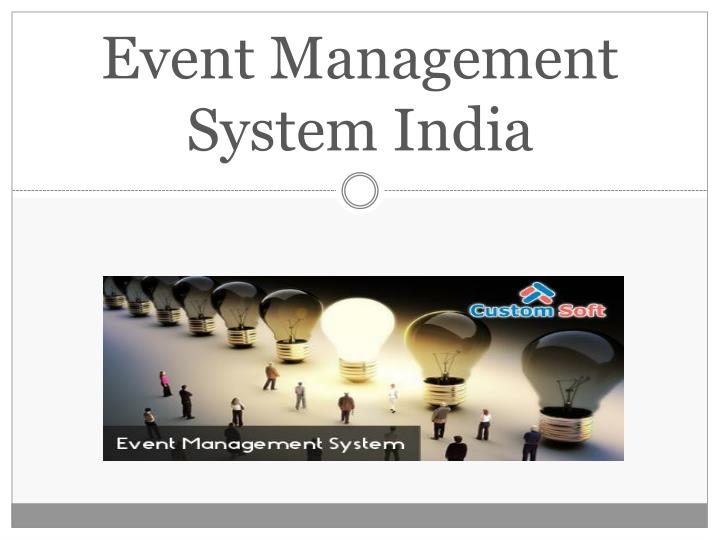 Event management system india