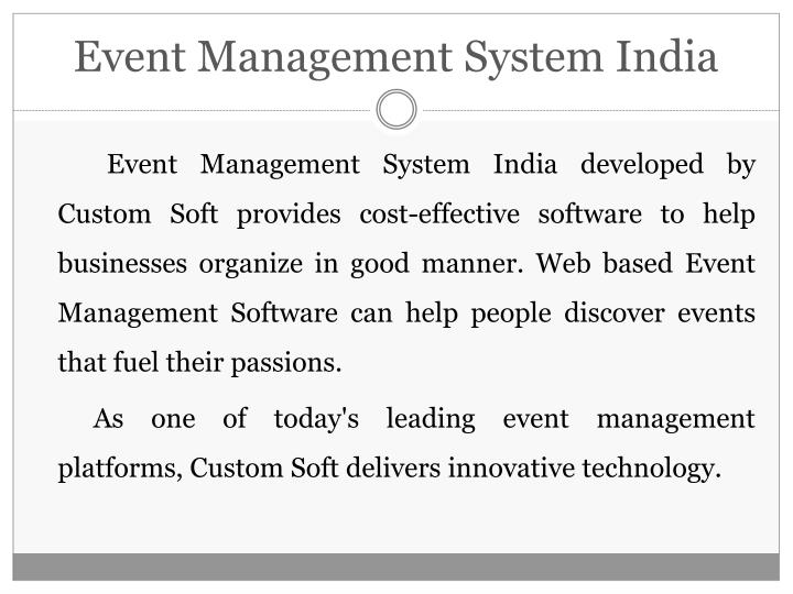 Event management system india1
