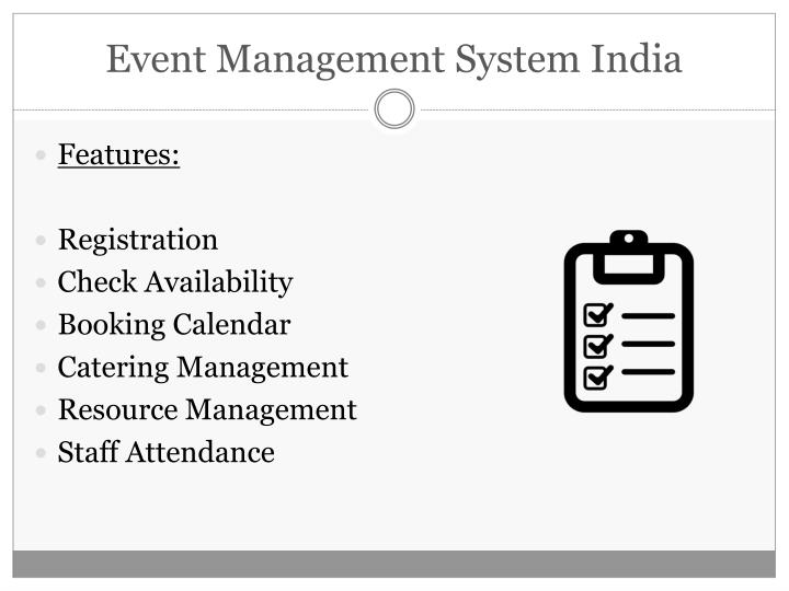 Event management system india2