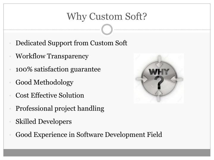 Why Custom Soft?