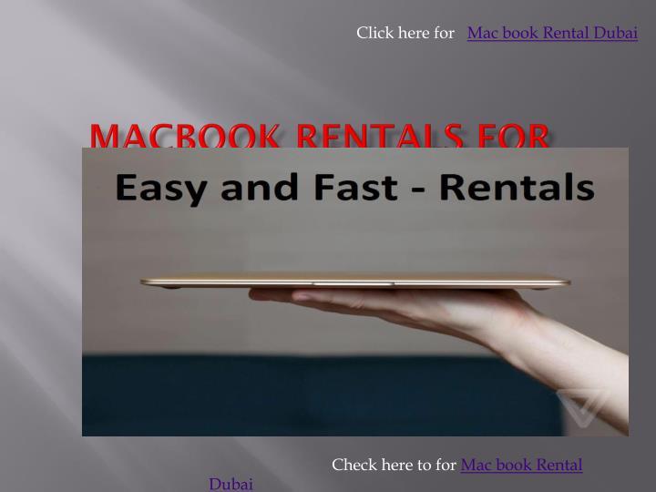 Click here for   Mac book Rental Dubai