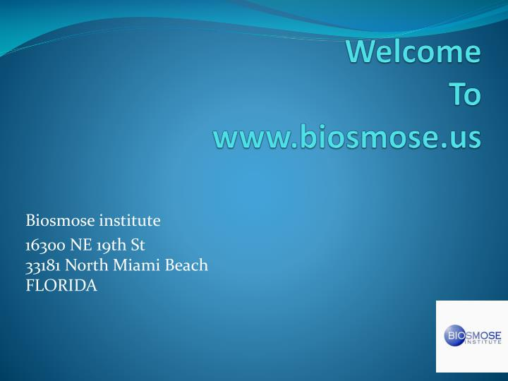 Welcome to www biosmose us