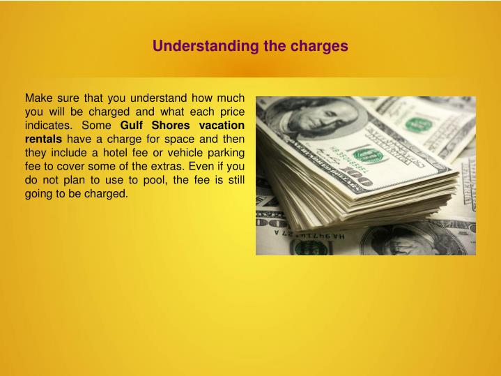 Understanding the charges
