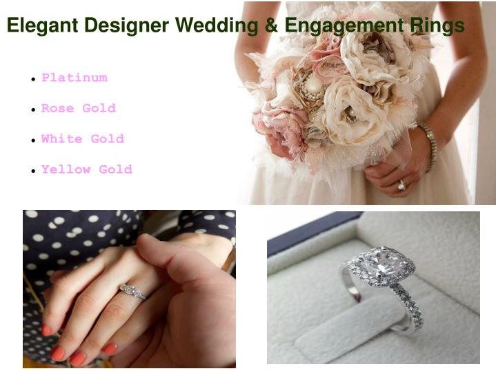 Elegant Designer Wedding & Engagement Rings