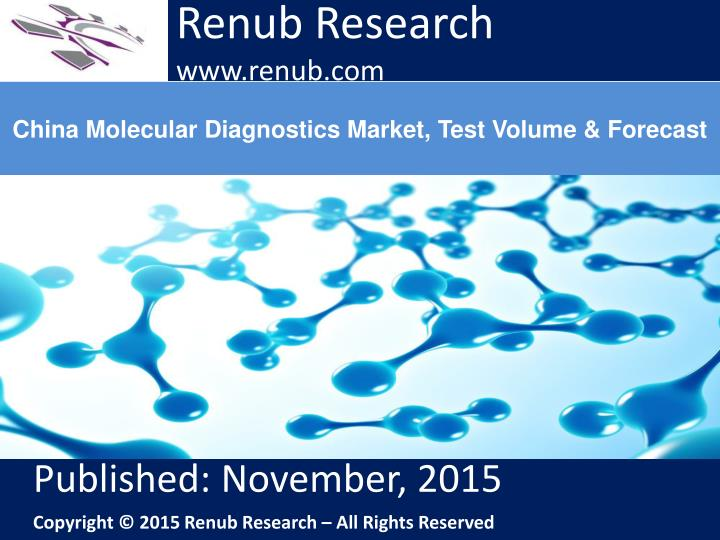 China molecular diagnostics market test volume forecast